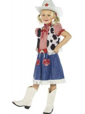Western Girl's Cowgirl Jessie Costume Front View