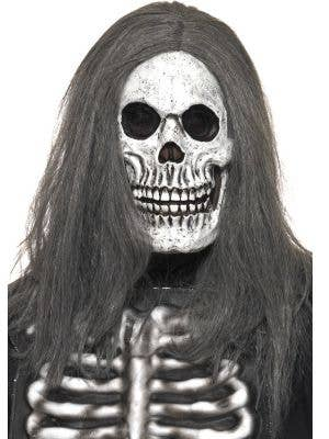 Skeleton Halloween Mask With Hair