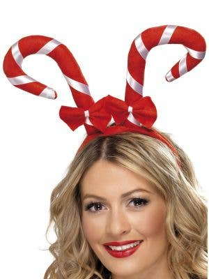 Candy Cane Christmas Headband Costume Accessory