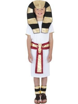Boy's Pharaoh Egyptian King Book Week Costume Front