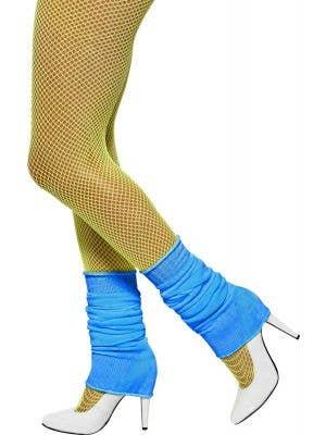 Bright Blue Women's 1980's Costume Leg Warmers