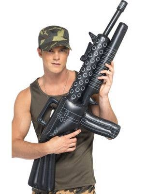 Inflatable Army Machine Gun Costume Accessory