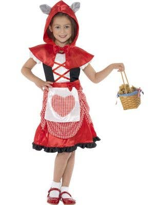 Girl's Red Riding Hood Fairytale Costume Front View