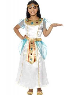 Egyptian Queen Girl's Cleopatra Costume Front View