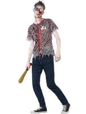Teen Boy's Zombie Baseball Player Costume Front View