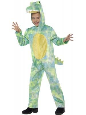 Deadly Green Dinosaur Kids Onesie Costume