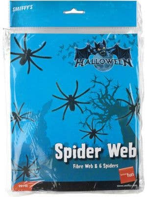 Spider Web and Spiders Halloween Decoration - Large
