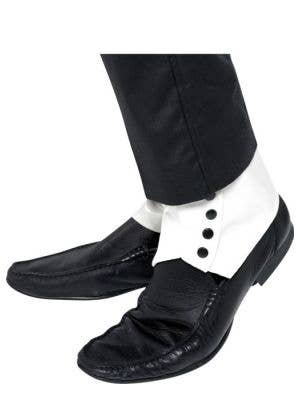 1920's White Vinyl Shoe Spats