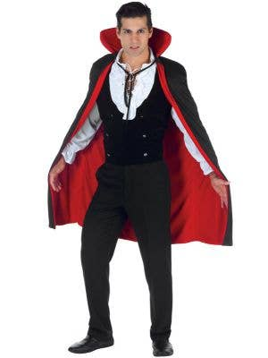 Reversible Black and Red Satin Cape