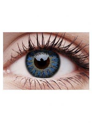 Glamour Aqua Coloured Cosmetic Contact Lenses