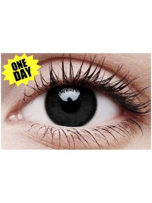 Black Out Single Wear Halloween Contact Lenses