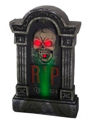 Move, Sound and Light Gravestone RIP Halloween Decoration View 1