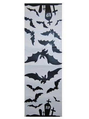 Halloween Bats and Gravestones Wall Decal Set View 1