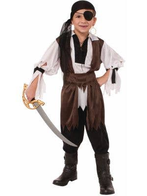 Caribbean Pirate Boy's Brown and White Book Week Costume