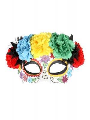 Deluxe Rainbow Sugar Skull Masquerade Mask