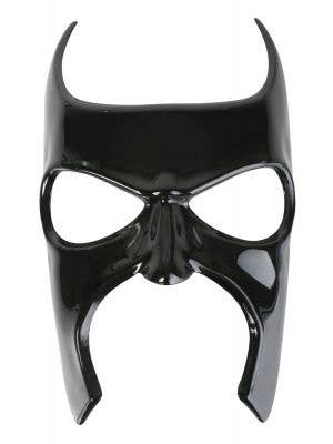 Adult's Black Glossy Batman Masquerade Costume Mask