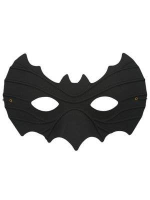 Simple Black Batman Men's Masquerade Mask