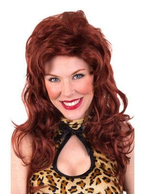 Tammy Long Curly Auburn Red Women's Costume Wig
