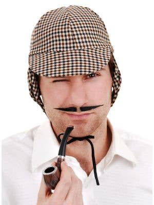 Men's English Inspector Thing Black Costume Moustache
