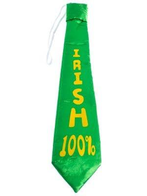 Green and Yellow St Patrick's Day Satin Irish 100 percent Tie On Elastic Costume Accessory