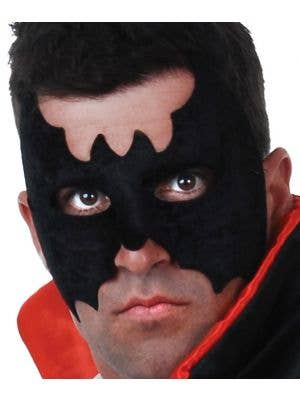 Men's Black Velvet Simple Batman Masquerade Mask