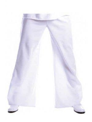 Men's White 1970's flared Disco Costume Pants