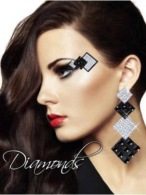 Diamond Eyes Women's Sexy Stick On Makeup