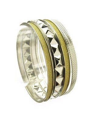 Women's Silver and Gold Costume Bracelet Accessory