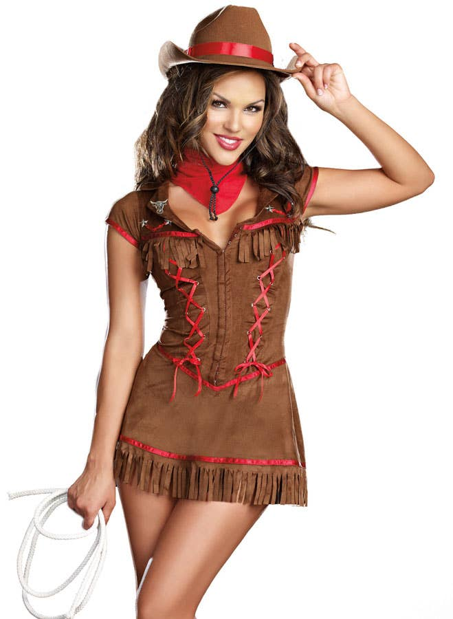 drg 8216 giddy up sexy cowgirl costume close BBs ...
