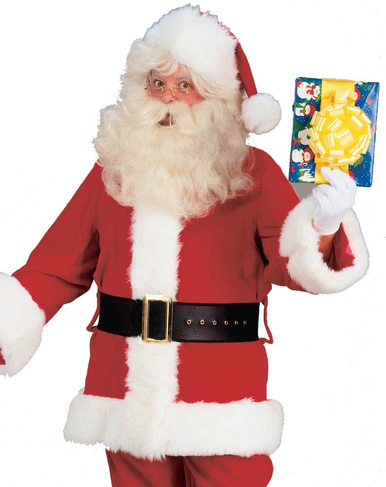 Fleecy Red Santa Suit Costume | Adult Father Christmas Costume Naughty Santa Claus Costume For Men