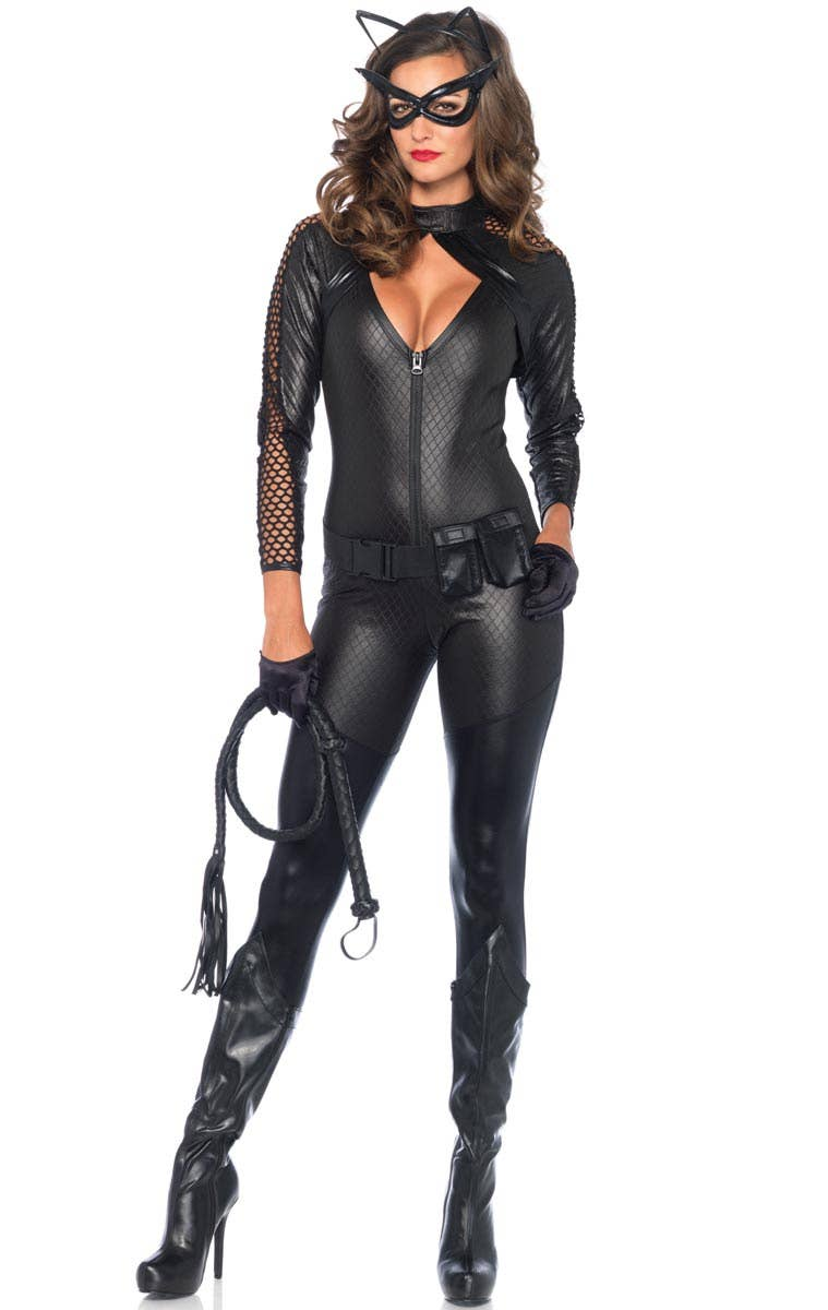 Wicked Kitty Womens Sexy Catwoman Costume Genuine Leg Avenue - New  sc 1 st  eBay : catwoman fancy dress costumes  - Germanpascual.Com