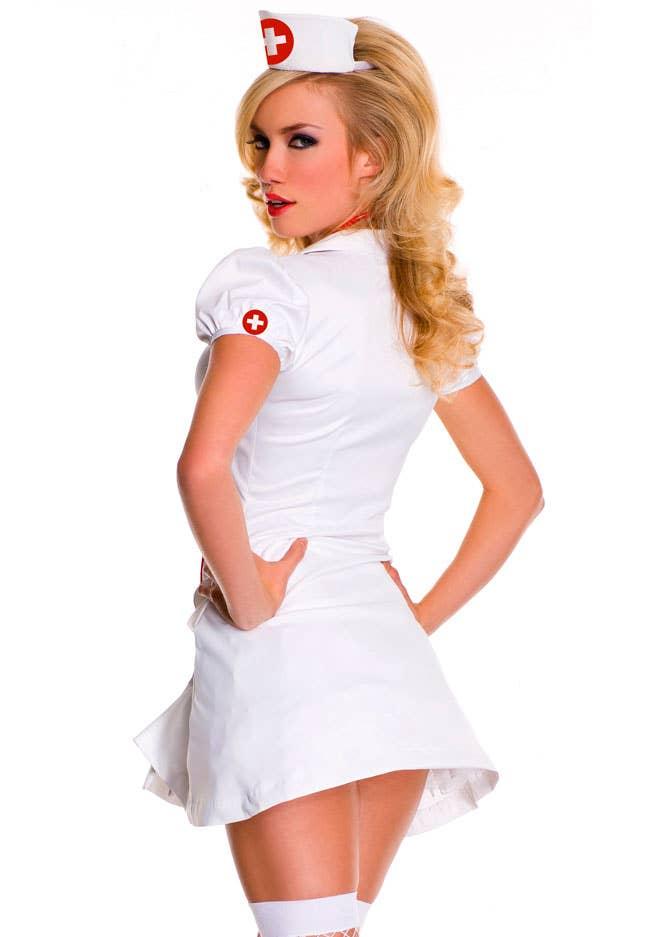 Women S Sexy Nurse Fancy Dress Costume Naughty Nurse Costume