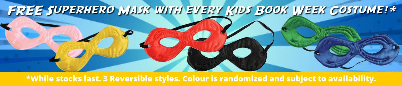 Free Superhero Mask with Every Kids Costume