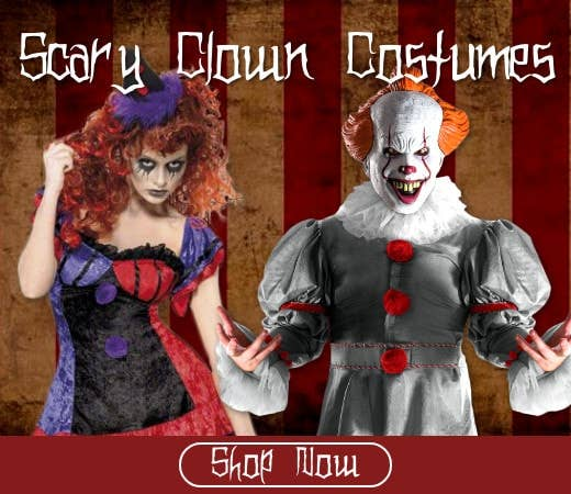Shop Clown Themed Halloween Costumes