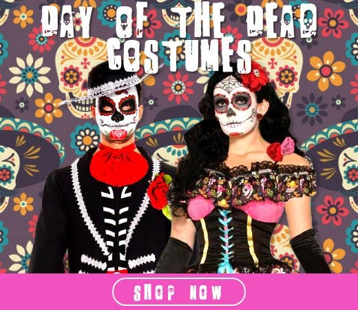 Shop Day of the Dead Themed Halloween Costumes