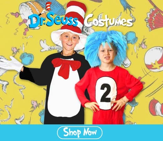 Shop Dr Seuss Cat in the Hat and Thing Costumes for Book Week Online