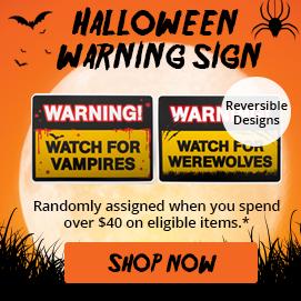 Free Gift Warning Sign