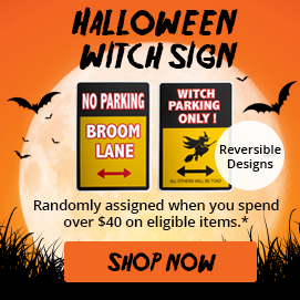 Free Gift Witch Sign