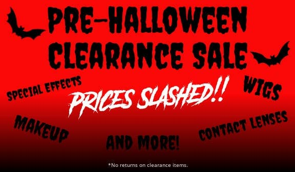 Shop our Huge Pre-Halloween Clearance Sale