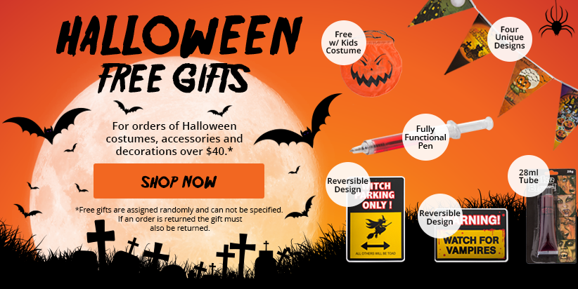 Halloween Free Gifts Banner