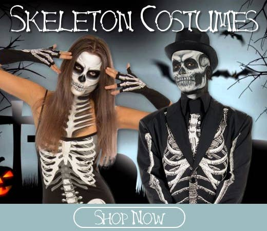 Shop Skeleton Themed Halloween Costumes