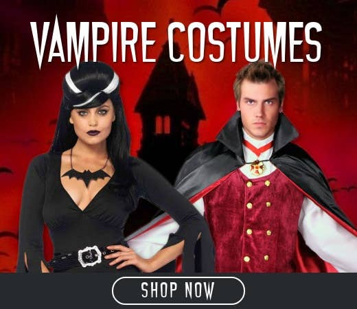 Shop Vampire Themed Halloween Costumes