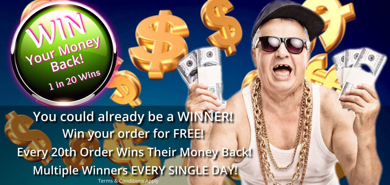1 in 20 Orders Wins Their Money Back Competition Online at Heaven Costumes Australia