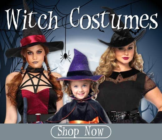 Shop Witch Themed Halloween Costumes