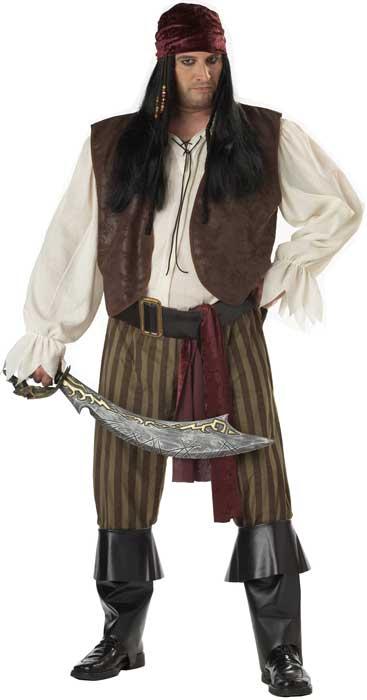 Men's Rogue Pirate Fancy Dress Costume