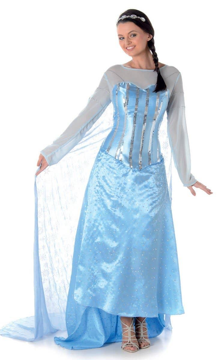 Ice Princess Elsa Women's Frozen Fancy Dress Costume