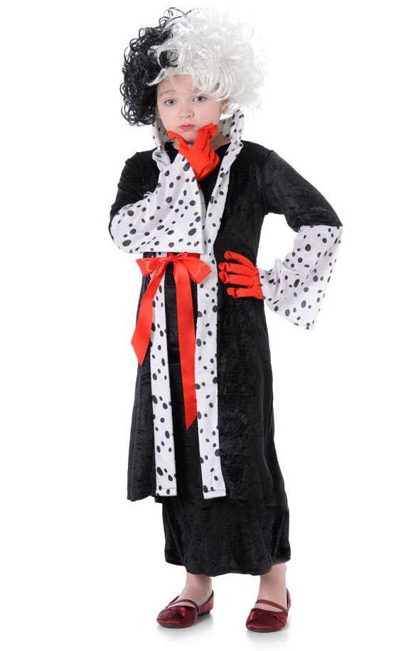 Girls Cruella de Vil Storybook Fancy Dress Costume