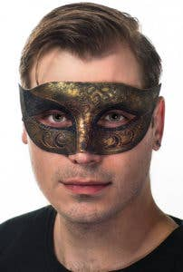 New Antique Bronze Men's Masquerade Masks