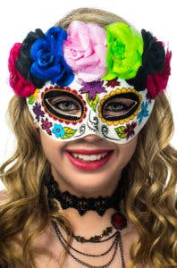 New Day of the Dead Women's Masquerade Masks