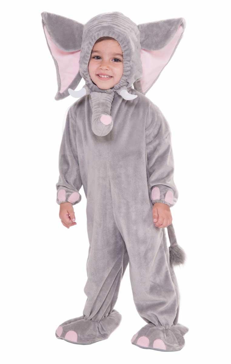 Kids Grey Elephant Onesie Fancy Dress Animal Costume